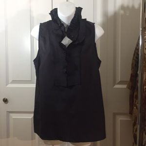 Black Silk Sleeveless Too